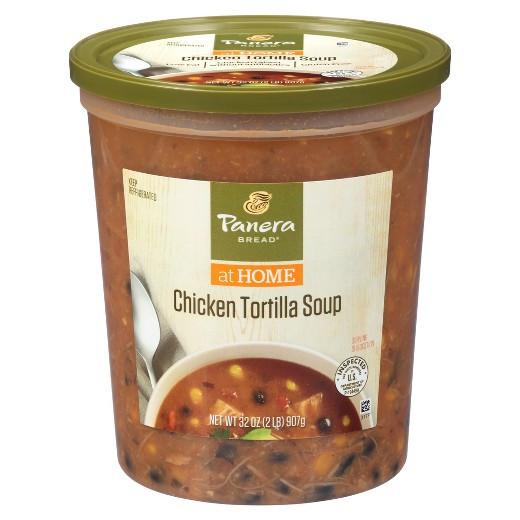 Low Calorie Chicken Tortilla Soup  Panera Bread Low Fat Chicken Tortilla Soup 32 oz Tar