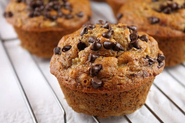 Low Calorie Chocolate Chip Muffins  Honey Sweetened Low Fat Banana Chocolate Chip Muffins