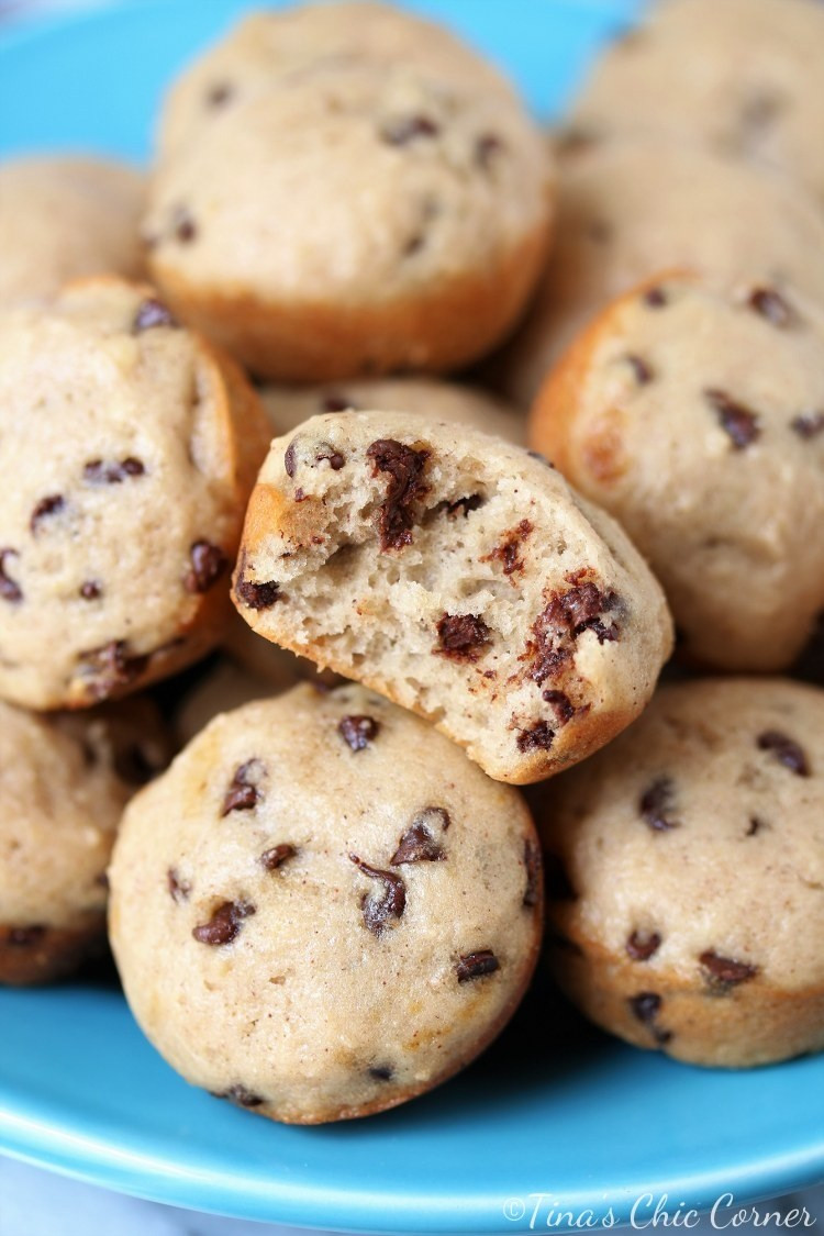 Low Calorie Chocolate Chip Muffins  Low Calorie Mini Chocolate Chip Muffins – Tina s Chic Corner