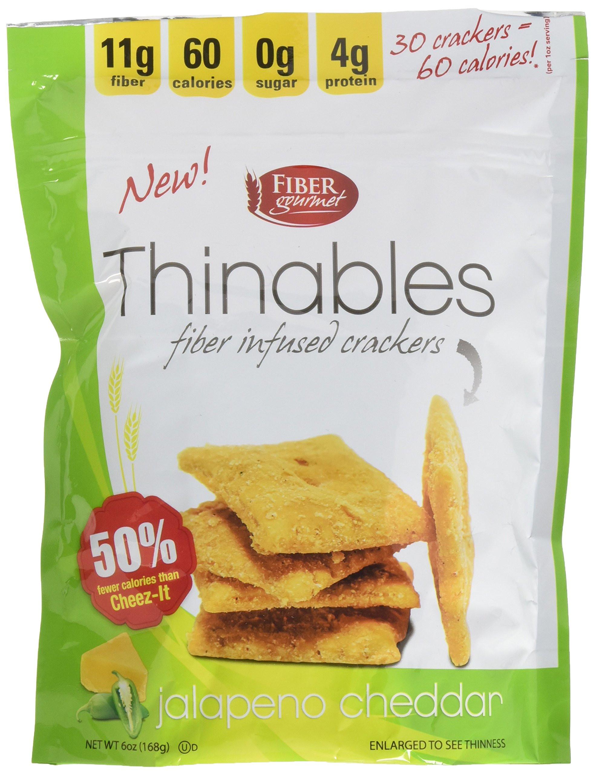 Low Calorie Crackers  Amazon FiberGourmet Cinnamon Thinables 6 Snack 1oz