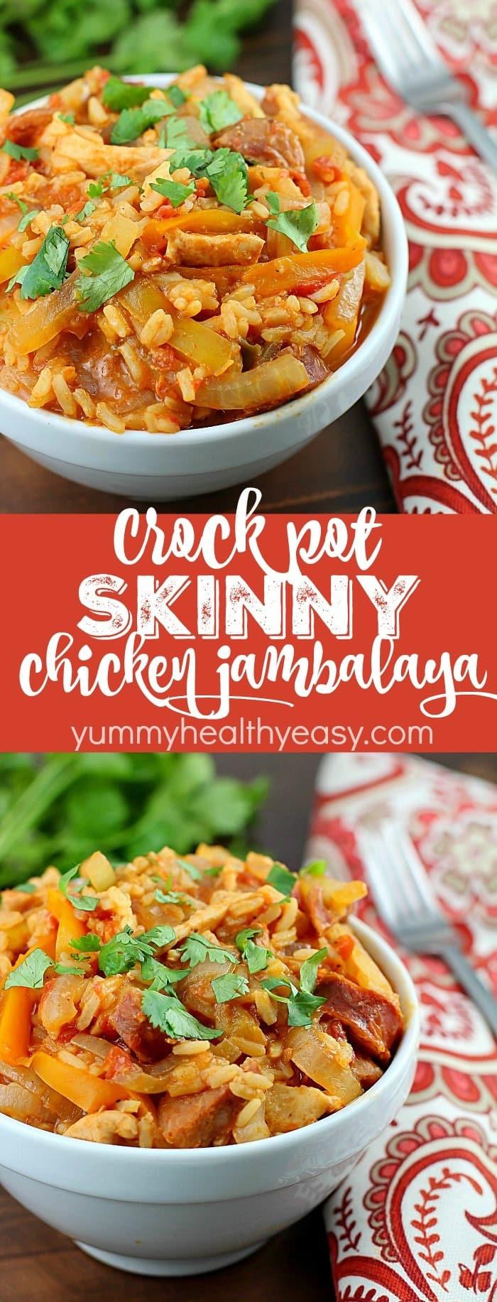 Low Calorie Crock Pot Chicken Breast Recipes  Crock Pot Skinny Chicken Jambalaya Yummy Healthy Easy