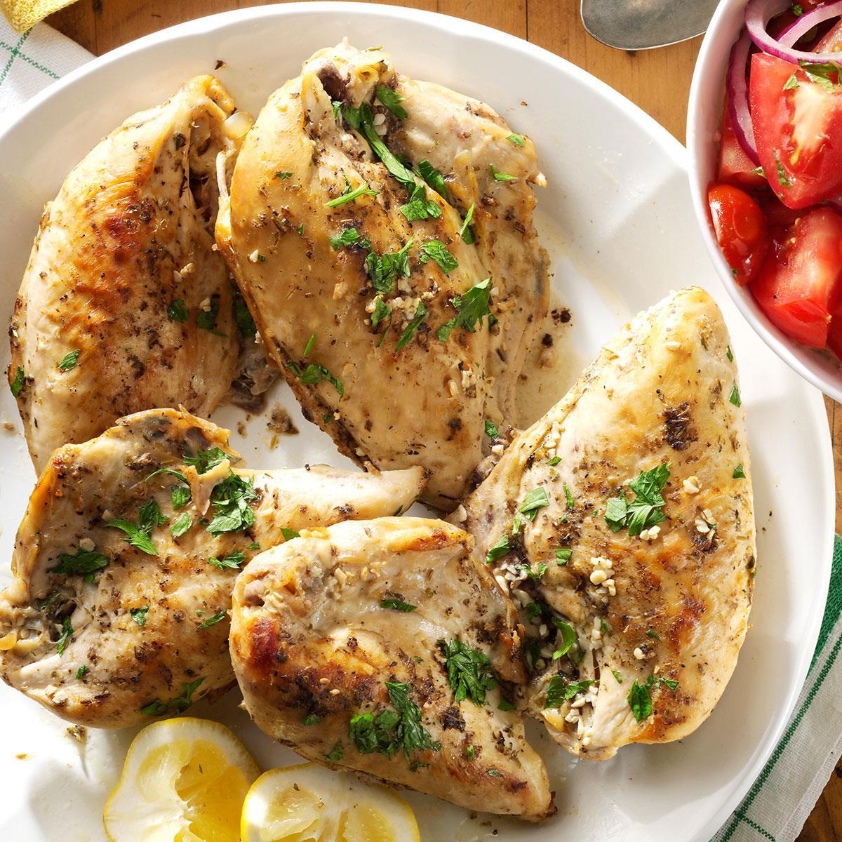 Low Calorie Crock Pot Chicken Breast Recipes  Slow Cooked Lemon Chicken Recipe