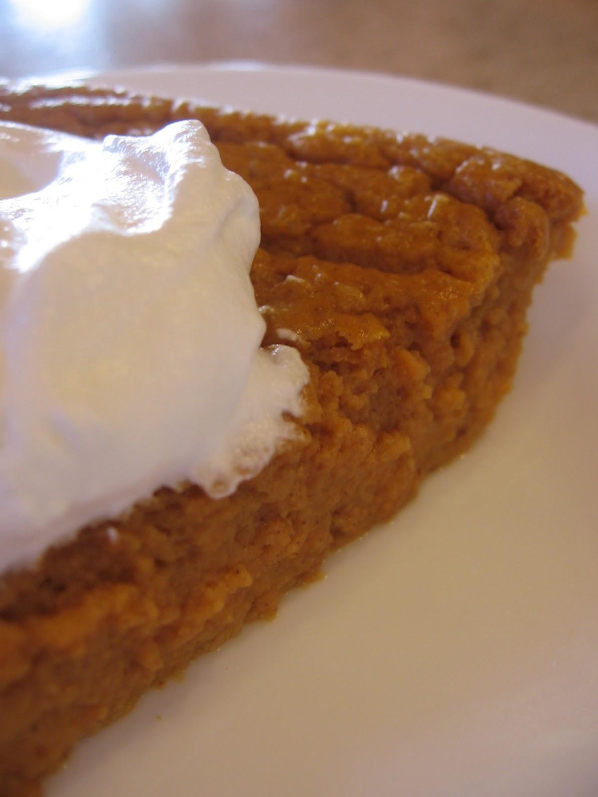 Low Calorie Crustless Pumpkin Pie  cookin up north Low cal Crustless Pumpkin Pie