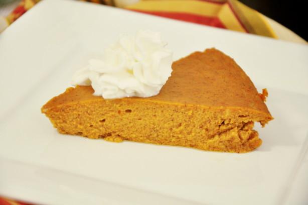 Low Calorie Crustless Pumpkin Pie  Crustless Pumpkin Pie Recipe Food
