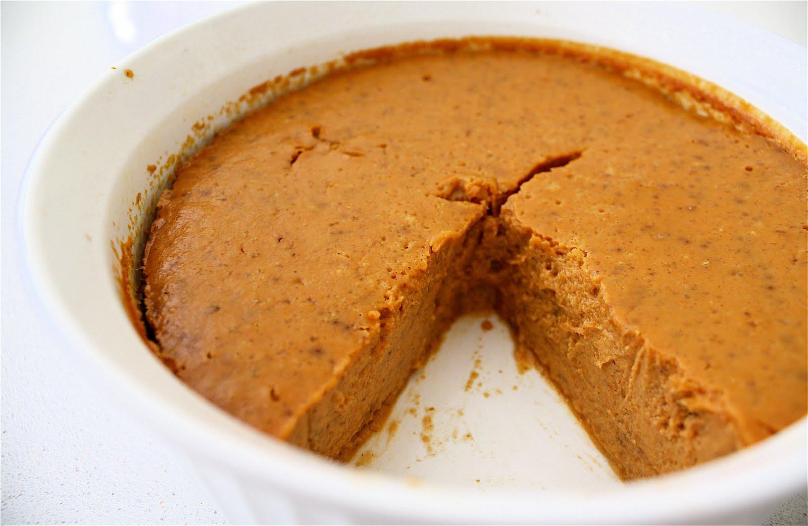 Low Calorie Crustless Pumpkin Pie  Sugar and Shimmer October 2010