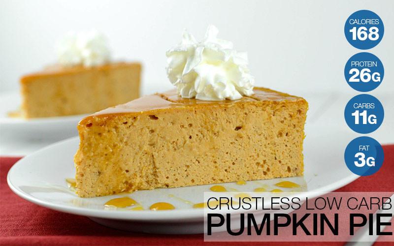 Low Calorie Crustless Pumpkin Pie  Crustless Low Carb Protein Pumpkin Pie Recipe