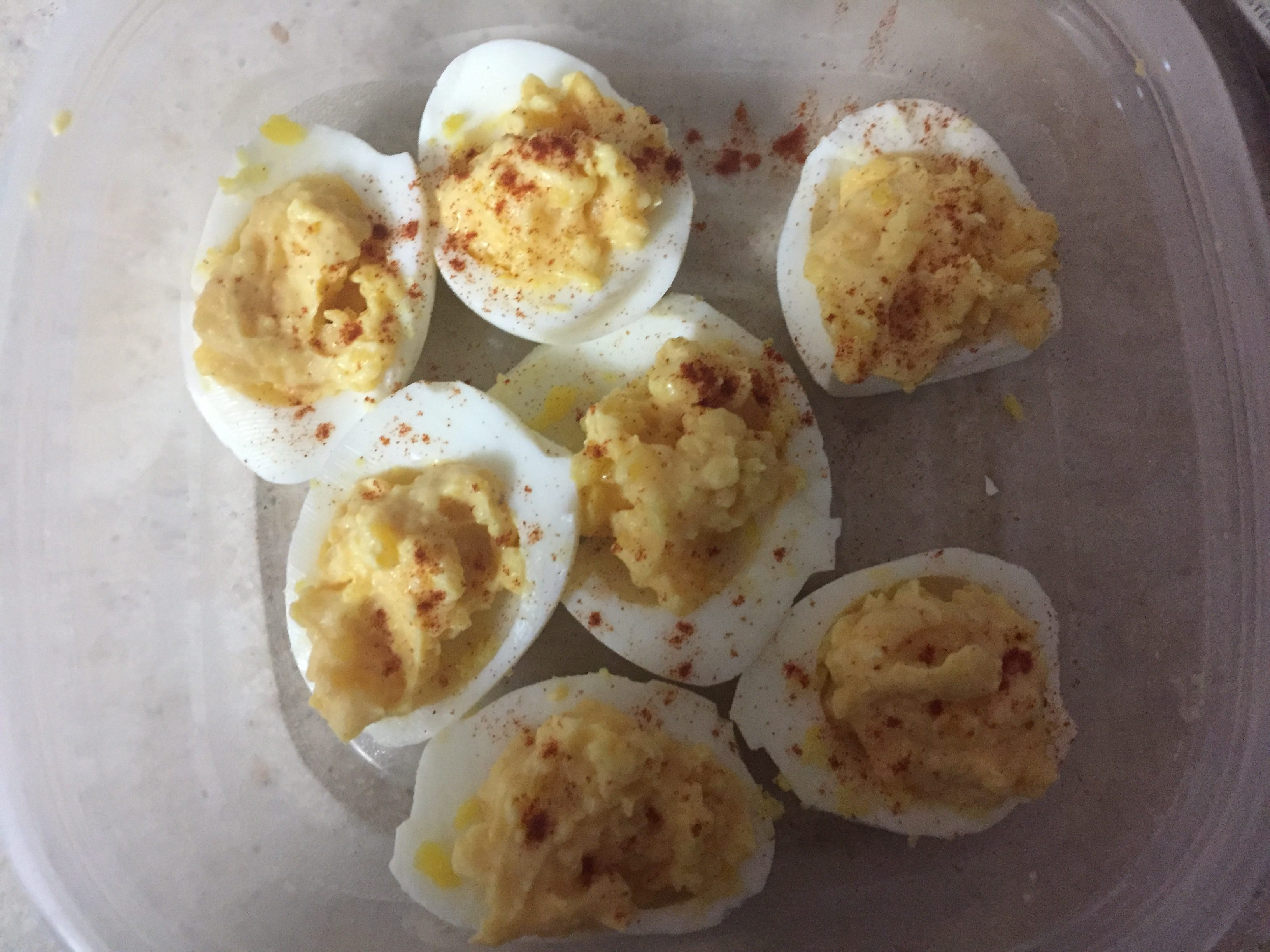 Low Calorie Deviled Eggs  Deviled Eggs – A great snack for under 100 calories