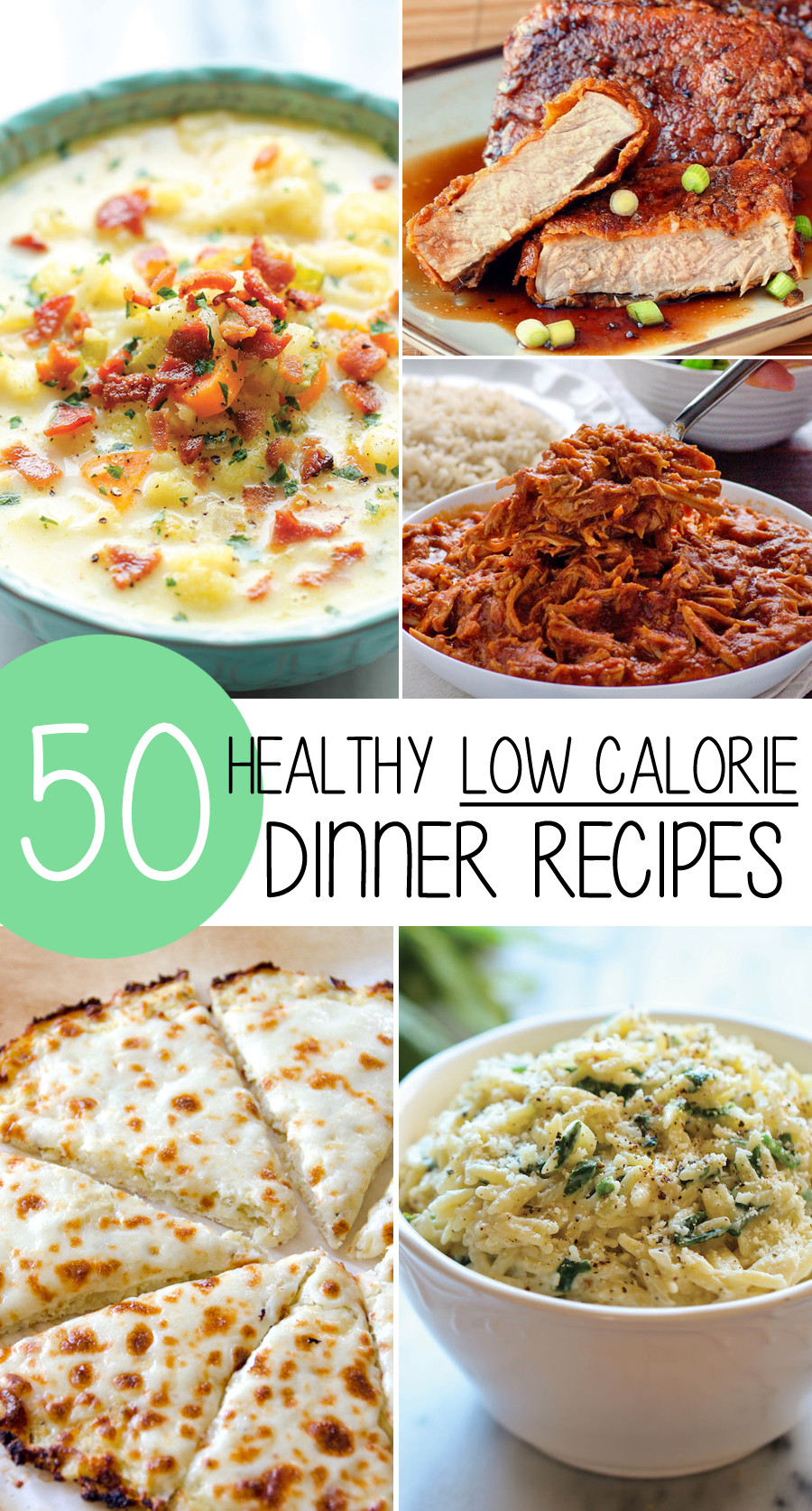 Low Calorie Dinners  50 Healthy Low Calorie Weight Loss Dinner Recipes
