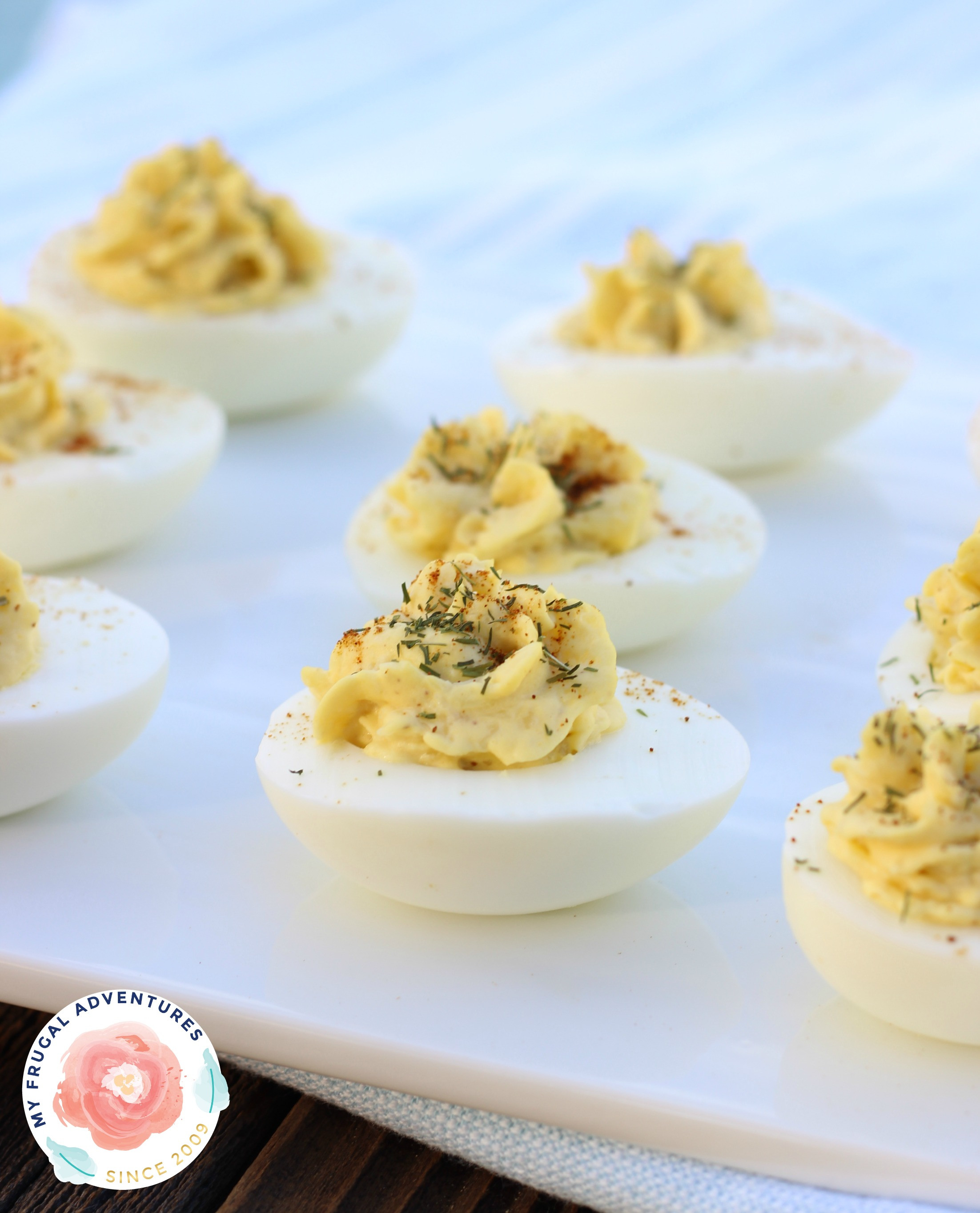 Low Calorie Egg Recipes  Low Fat Deviled Eggs Recipe My Frugal Adventures