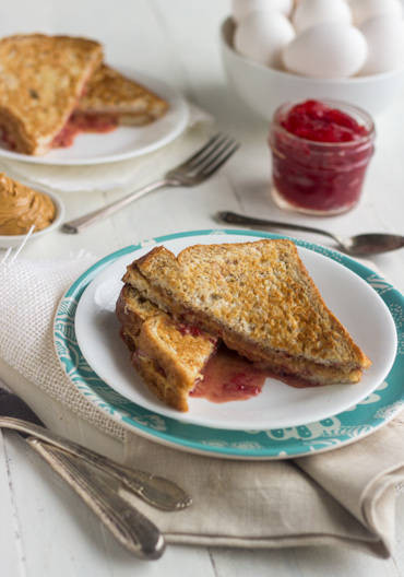 Low Calorie French Toast  Healthy Stuffed French Toast with PB & J Food Faith Fitness