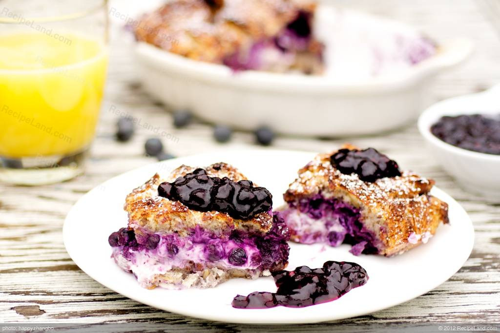Low Calorie French Toast  Blueberry French Toast Low fat Recipe
