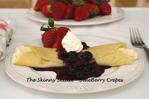 Low Calorie Fruit Desserts  Blueberry Crepes – Low Calorie Dessert