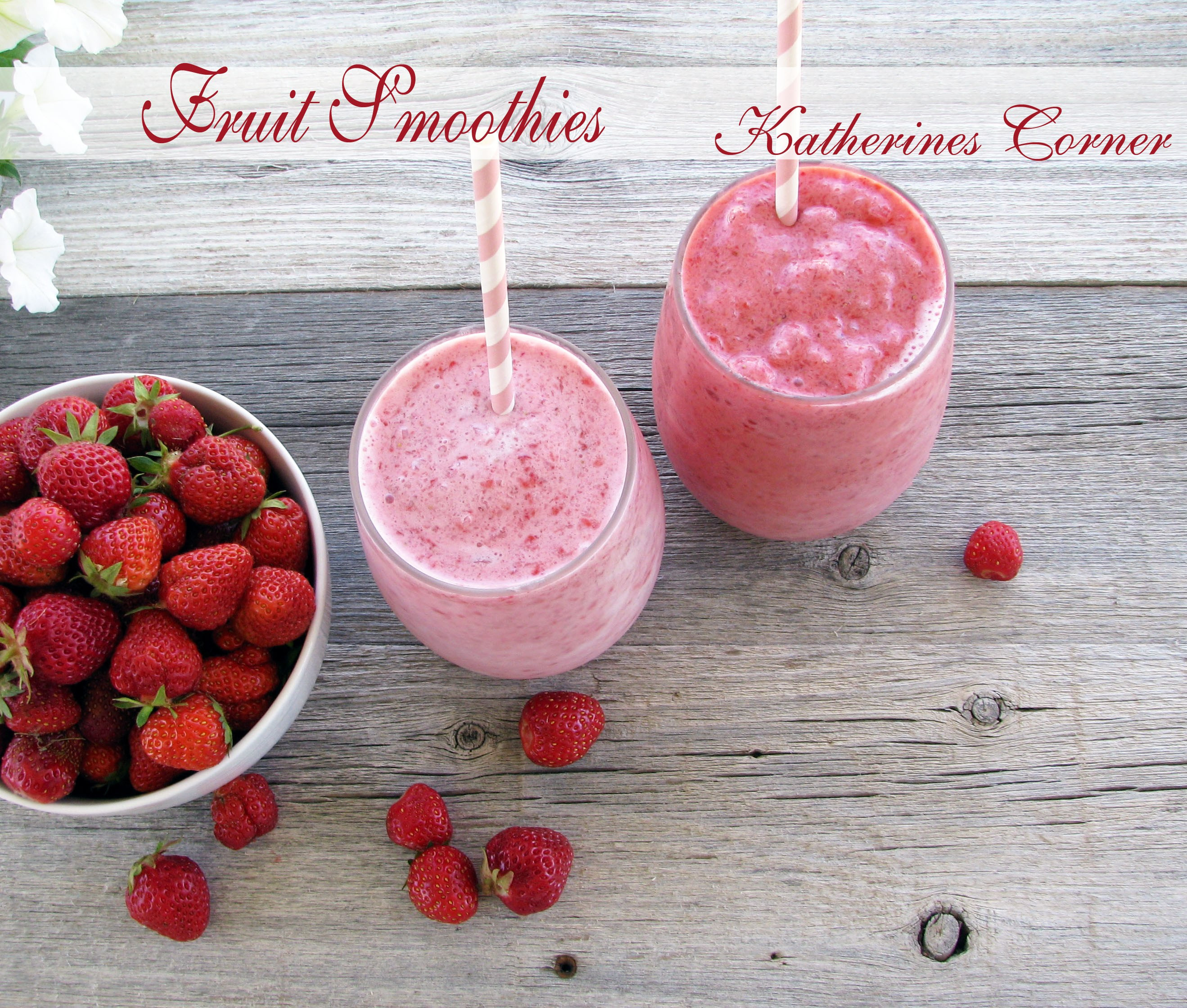 Low Calorie Fruit Smoothie Recipes  Low Fat Fruit Smoothies Katherines Corner