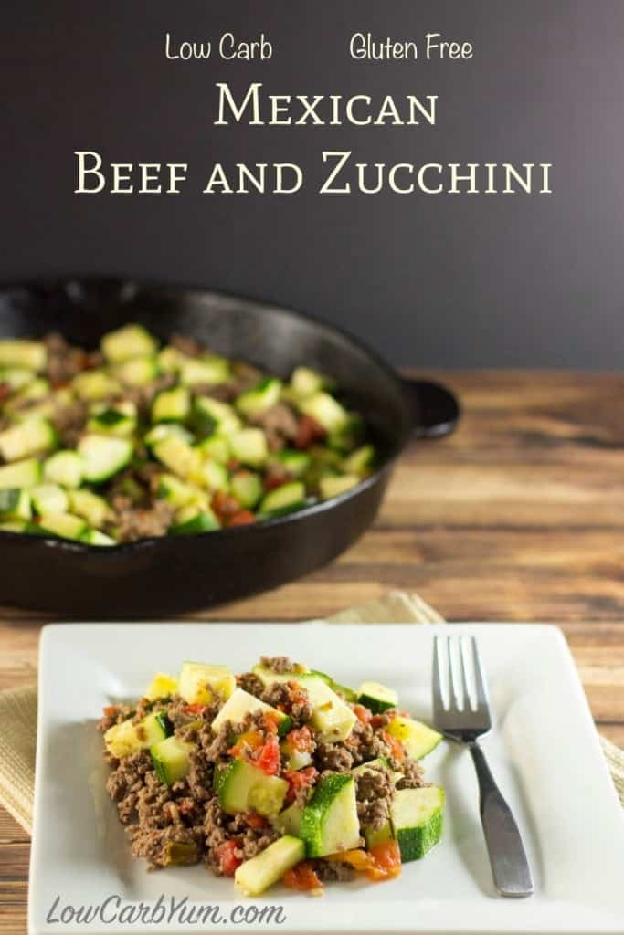 Low Calorie Ground Beef Recipes  Mexican Zucchini and Beef Skillet