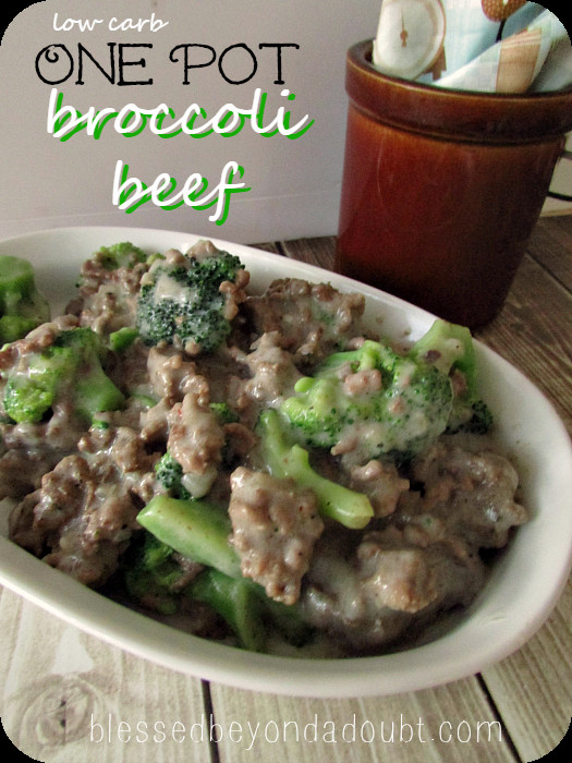 Low Calorie Ground Beef Recipes  e Pot Low Carb Beef Broccoli Recipe Blessed Beyond A Doubt