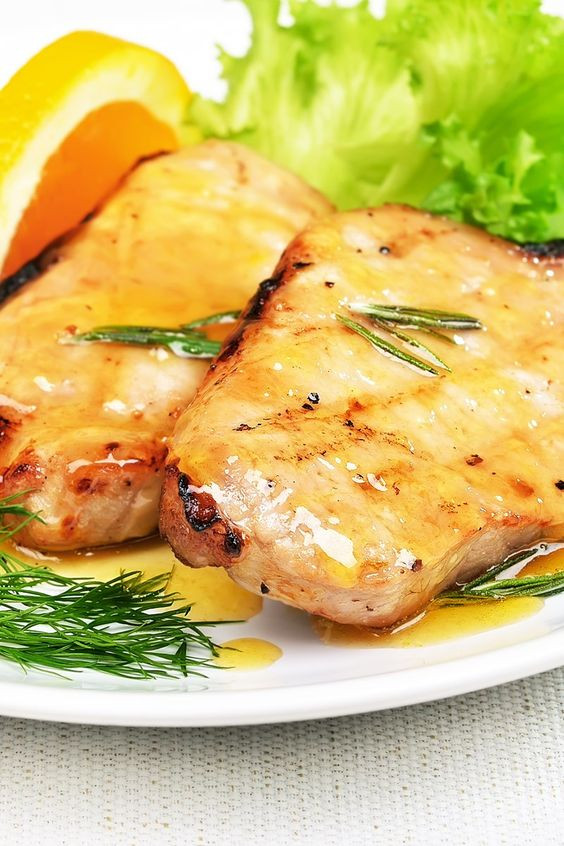 Low Calorie Ham Recipes  Skinny Orange Glazed Pork Chops Recipe 10 Minute Prep
