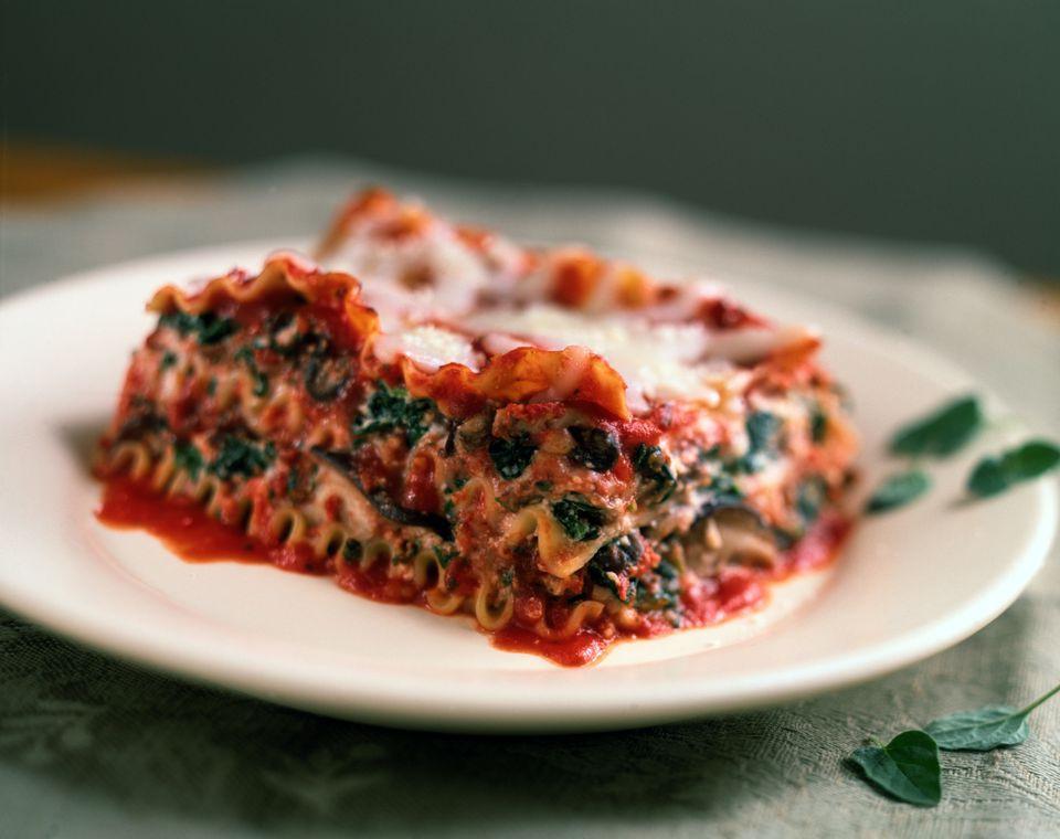 Low Calorie Lasagna  Easy Low Calorie Spinach Lasagna Recipe