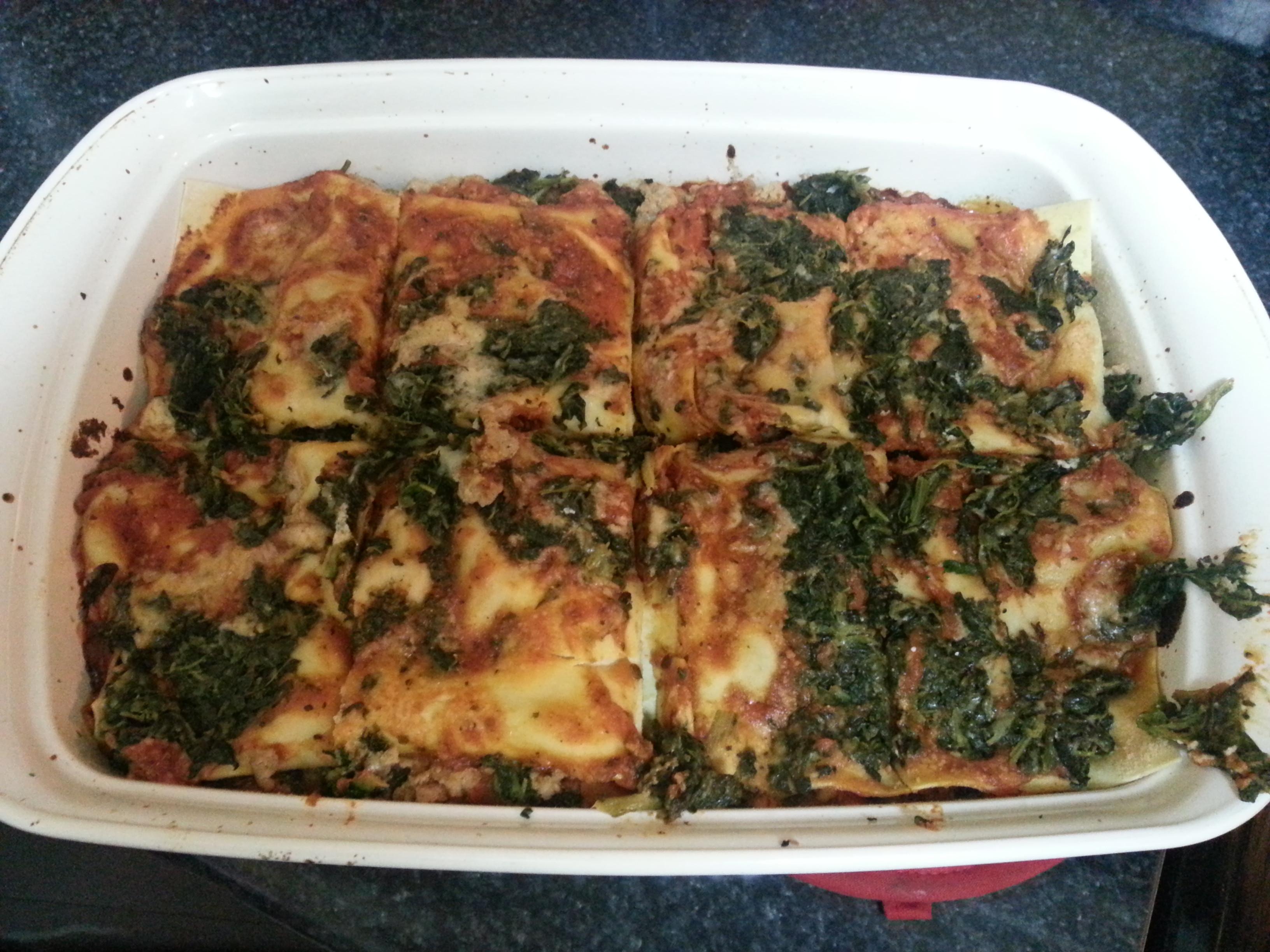 Low Calorie Lasagna  Low Calorie Turkey Spinach Lasagna BigOven
