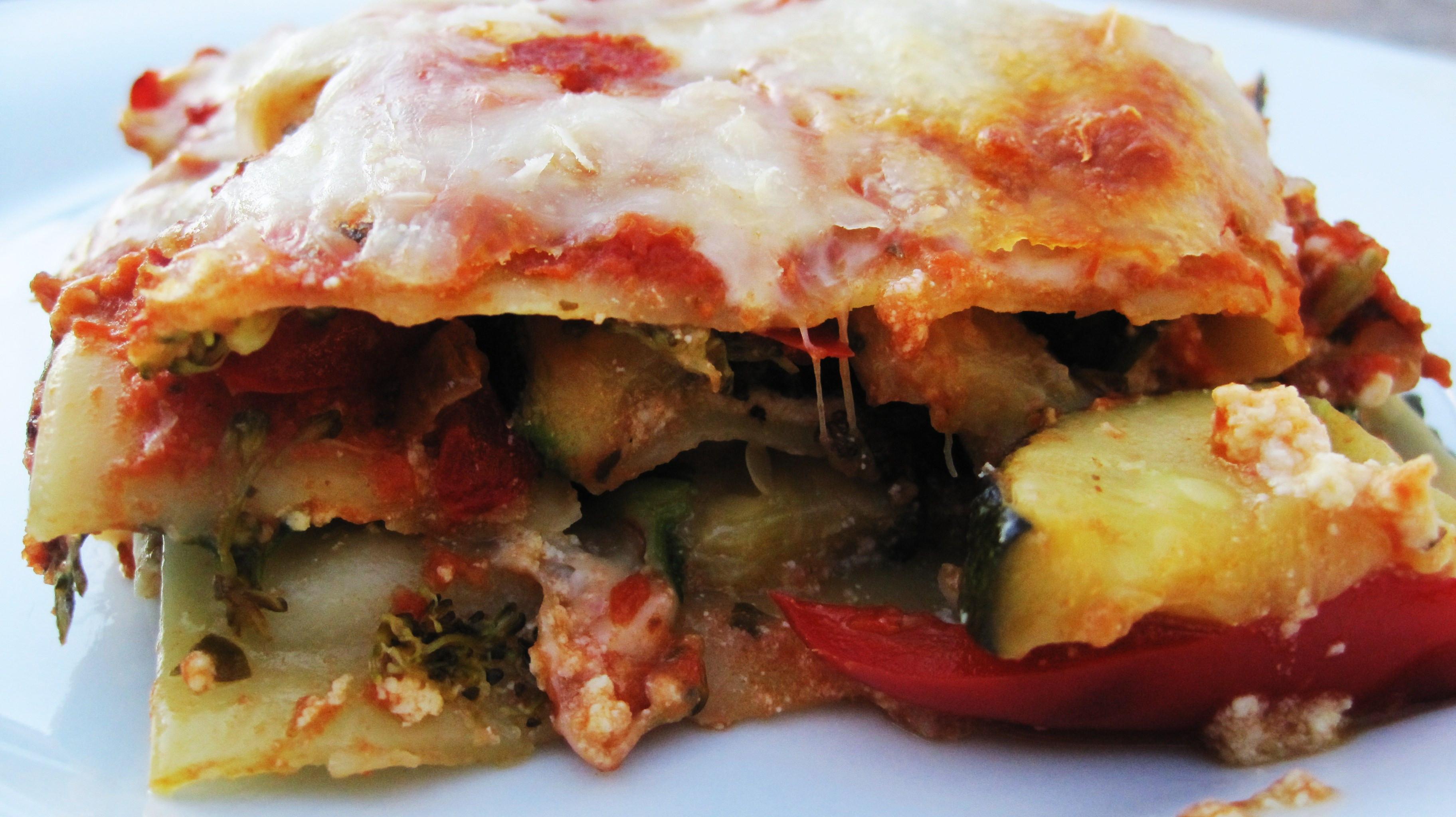 Low Calorie Lasagna  Low Calorie Veggie Lasagna
