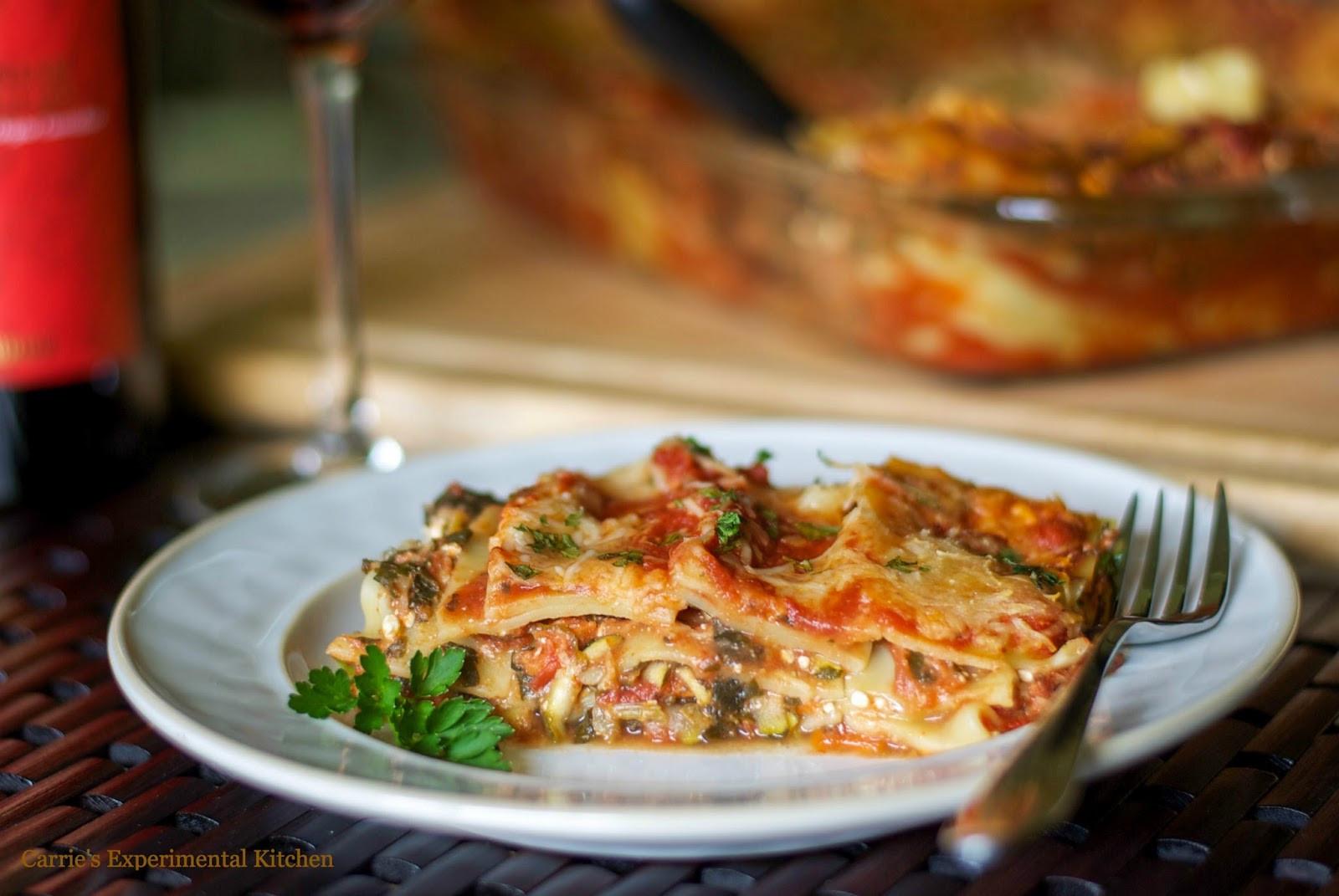 Low Calorie Lasagna  Low Fat Ve able Lasagna Carrie's Experimental Kitchen