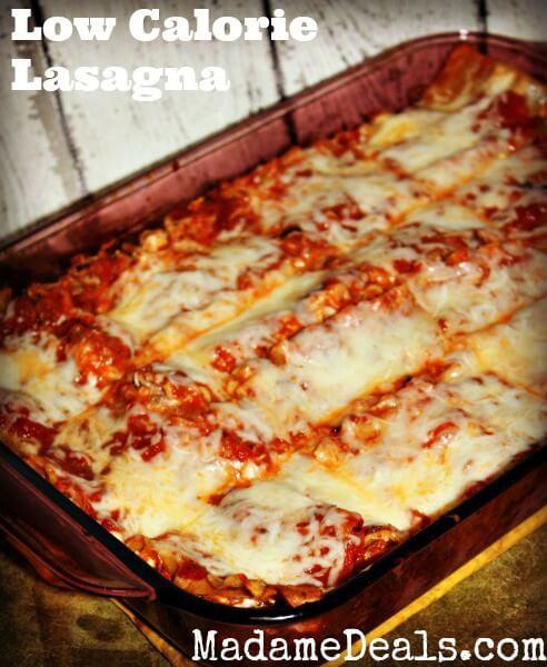 Low Calorie Lasagna  Low Calorie Healthy Lasagna Recipe Real Advice Gal