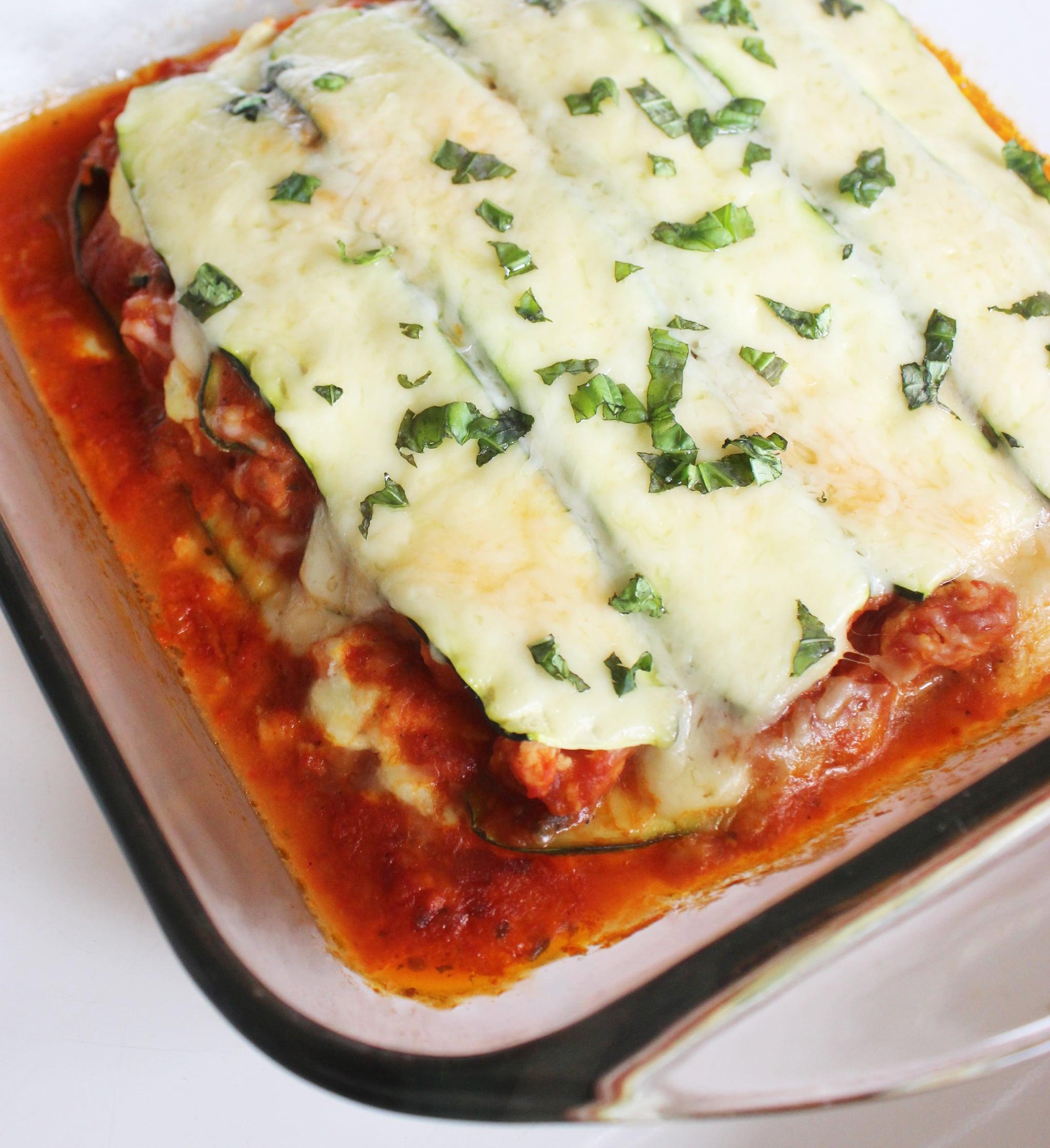 Low Calorie Lasagna  Low Calorie Pasta Free Lasagne