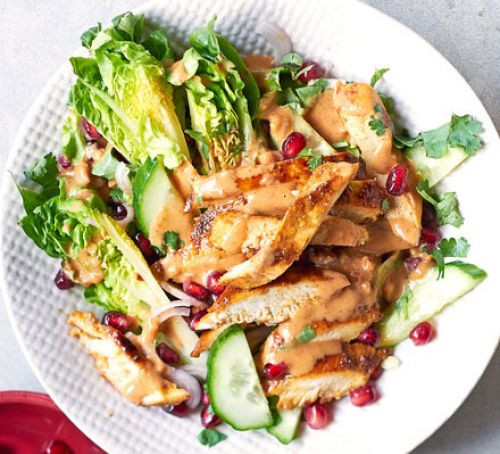 Low Calorie Lunch Recipes  Chicken satay salad recipe
