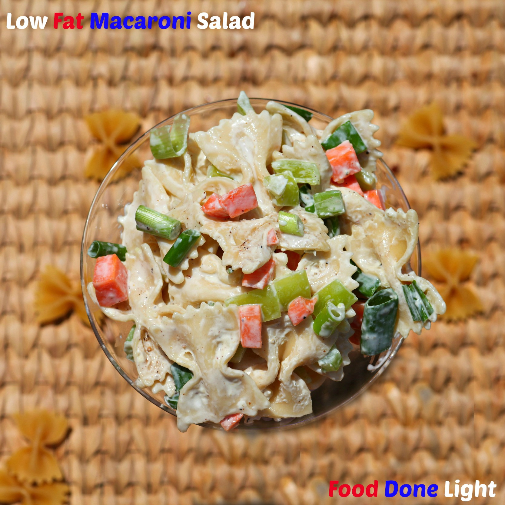 Low Calorie Macaroni Salad  Low Fat Macaroni Salad