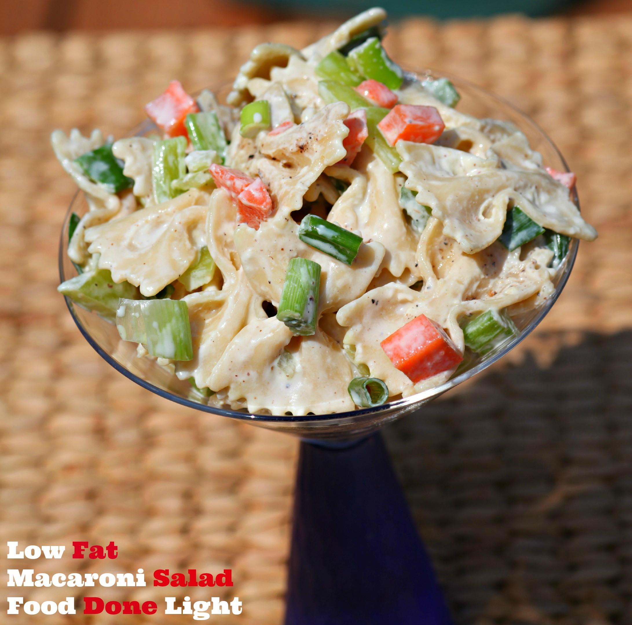 Low Calorie Macaroni Salad Low Fat Macaroni Salad