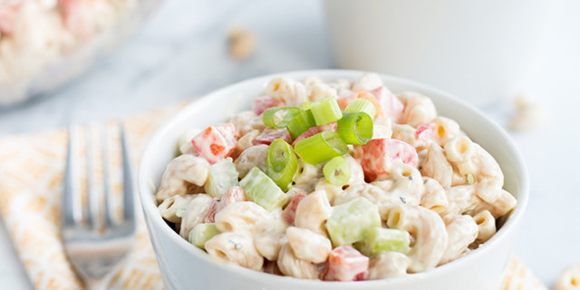 Low Calorie Macaroni Salad  Recipe Low Fat Skinny Macaroni Salad