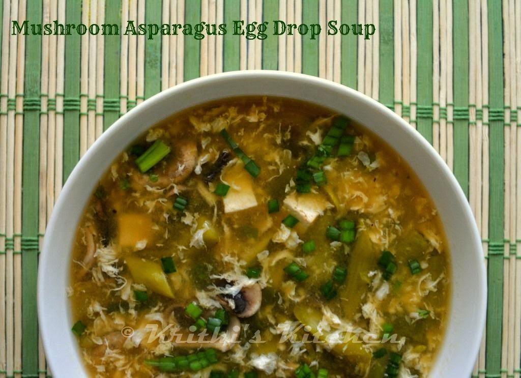 Low Calorie Mushroom Recipes  Krithi s Kitchen Mushroom Asparagus Egg Drop Soup