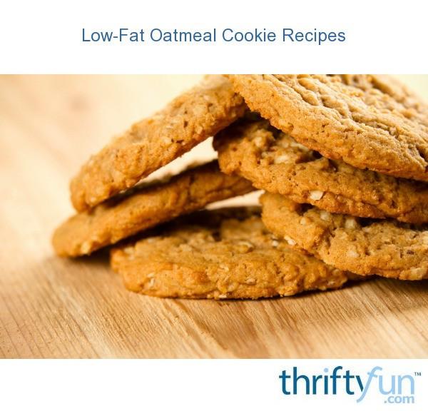 Low Calorie Oatmeal Recipes  oatmeal cookies fancy1