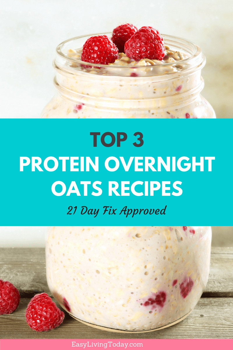 Low Calorie Overnight Oats  Top 3 Mason Jar Overnight Oatmeal Recipes Loaded with