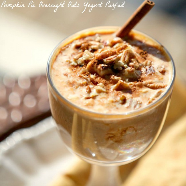 Low Calorie Overnight Oats  Great Breakfast Repin for later Pumpkin Pie Overnight