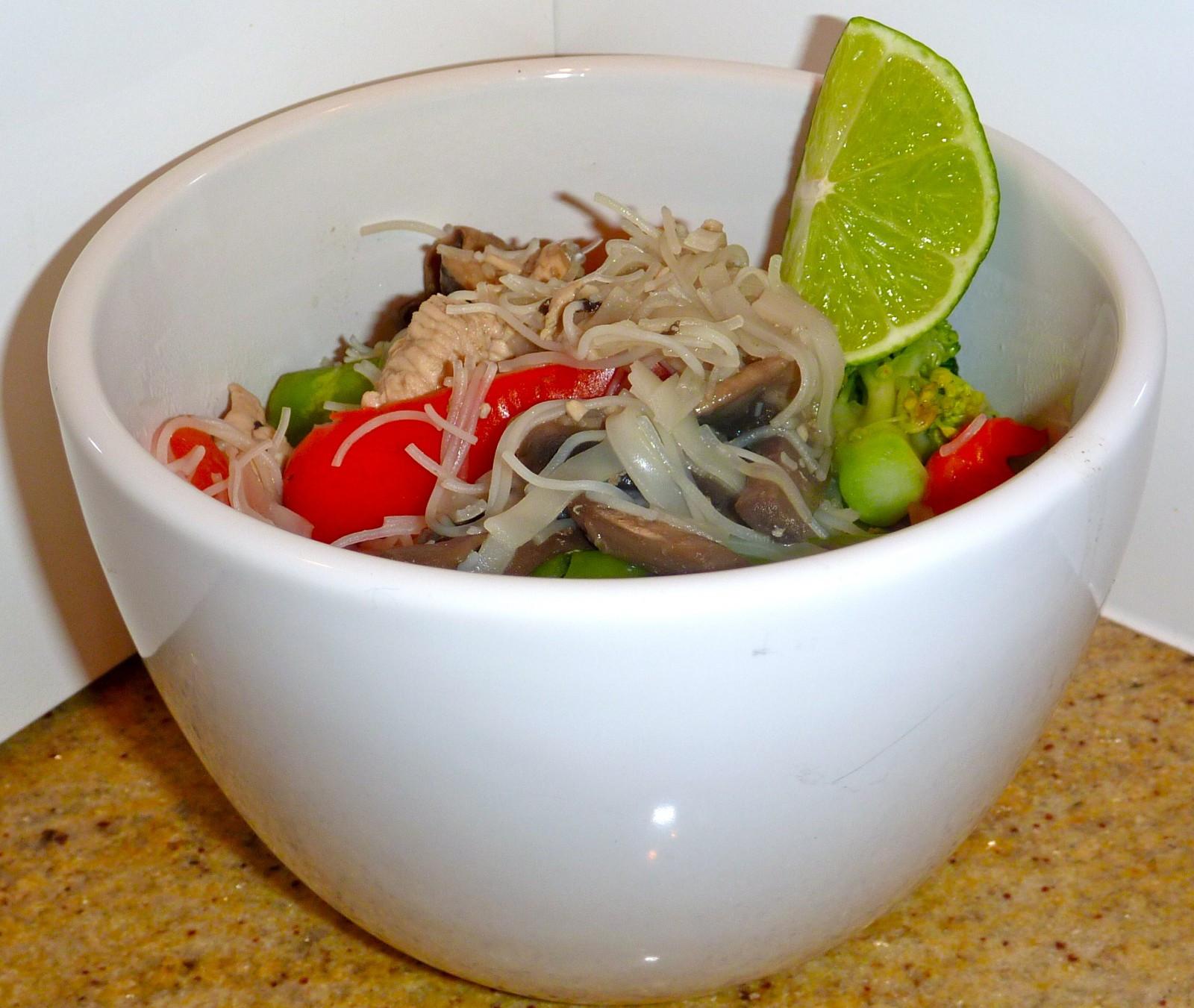 Low Calorie Pad Thai  Chicken Pad Thai low calorie version Claire K Creations