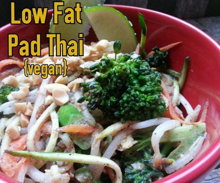 Low Calorie Pad Thai  food & fabric my vegan life Low Fat Vegan Pad Thai with