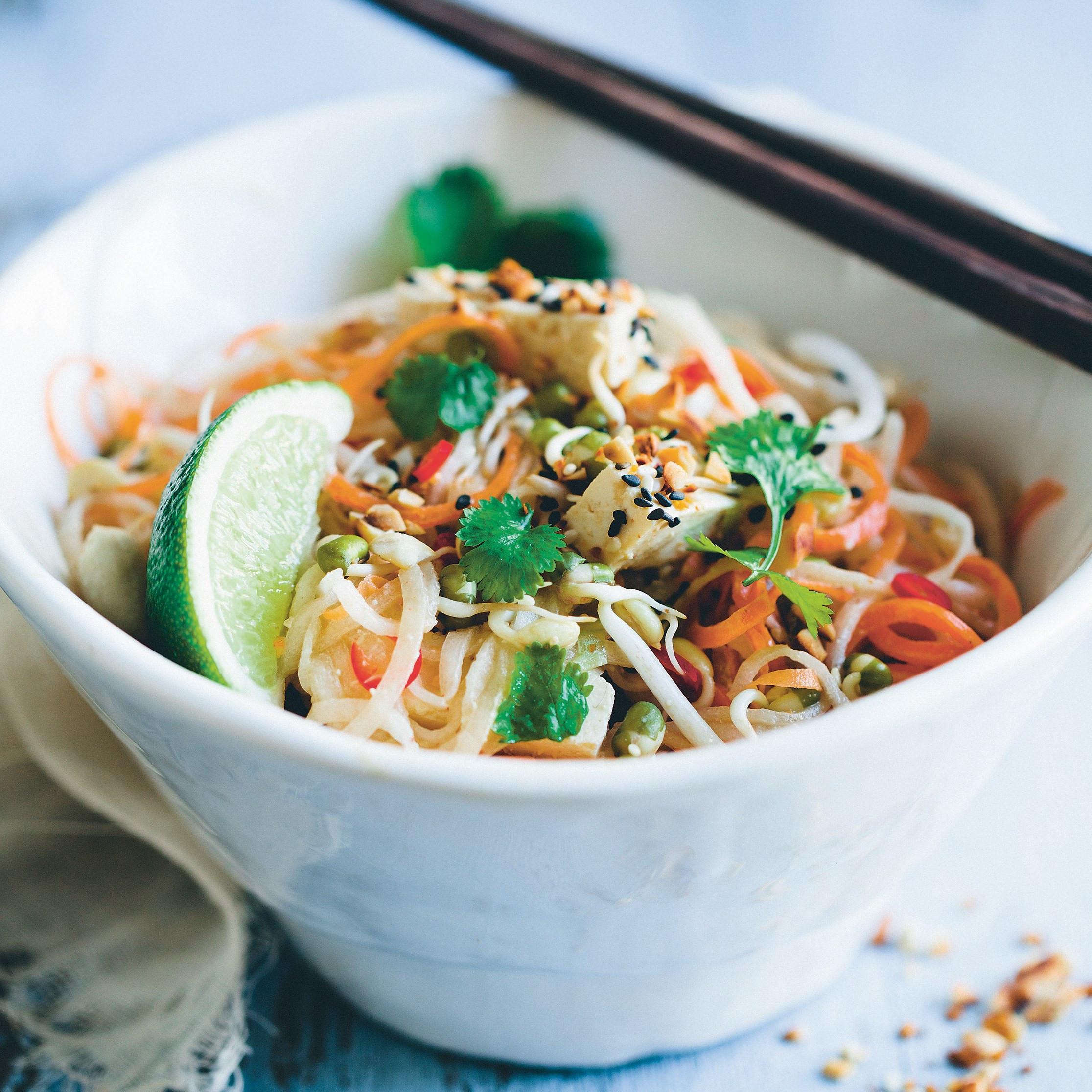 Low Calorie Pad Thai  zucchini pad thai calories