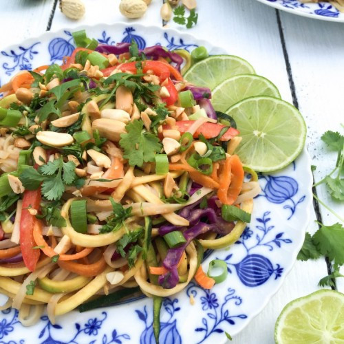 Low Calorie Pad Thai  Healthy Pad Thai with Peanuts and Coriander Get Healthy U