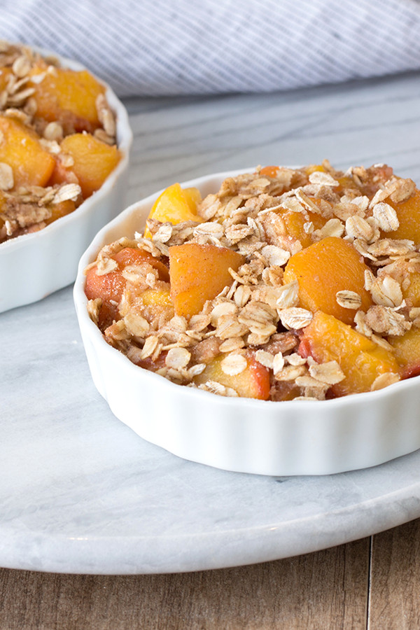 Low Calorie Peach Recipes  Hungry Girl Make a Low Cal Peach Cobbler for Two — with
