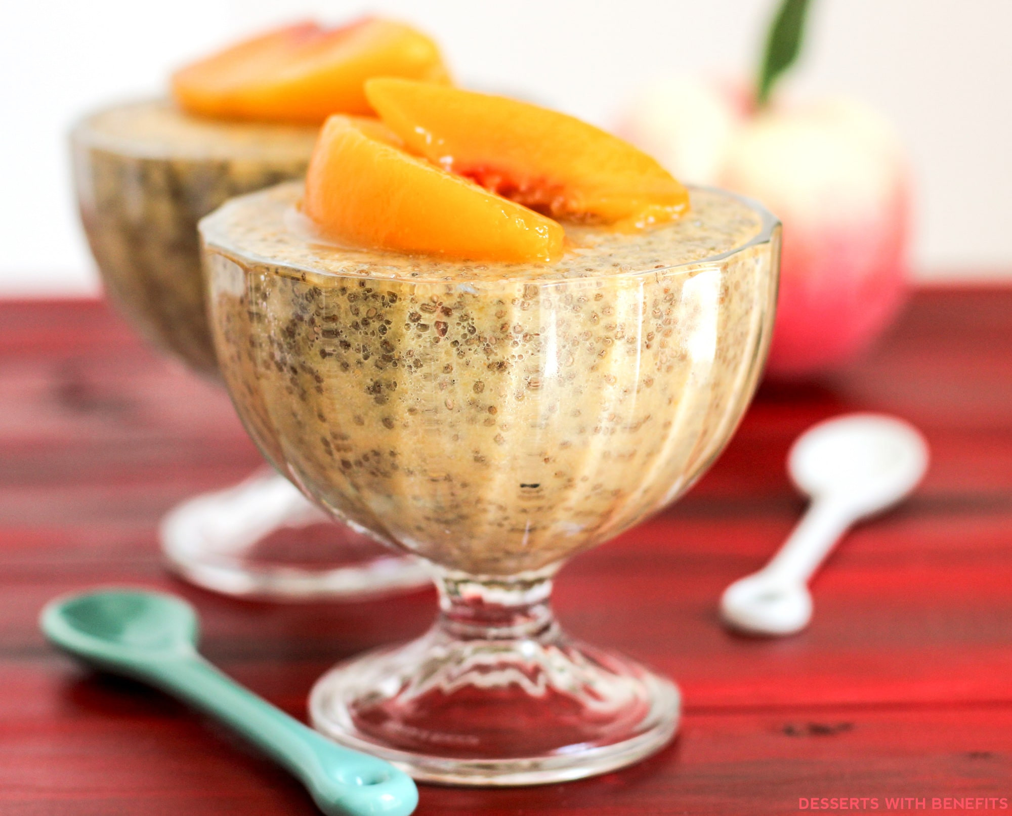 Low Calorie Peach Recipes  Healthy Ginger Peach Chia Seed Pudding Recipe