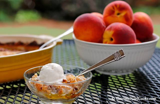 Low Calorie Peach Recipes  Gourmet Girl Cooks Old Fashioned Peach Cobbler Low Carb