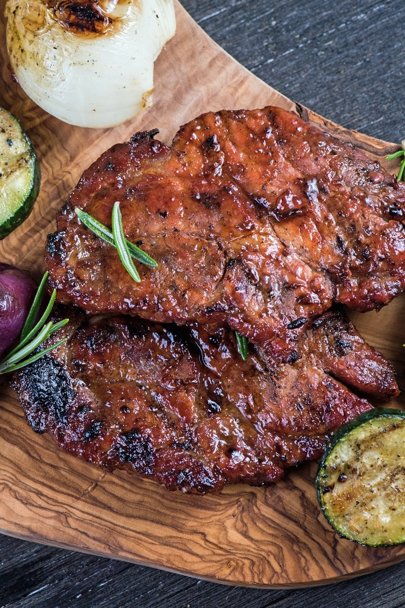 Low Calorie Pork Chop Recipes  Low Calorie Honey Garlic Grilled Pork Chops