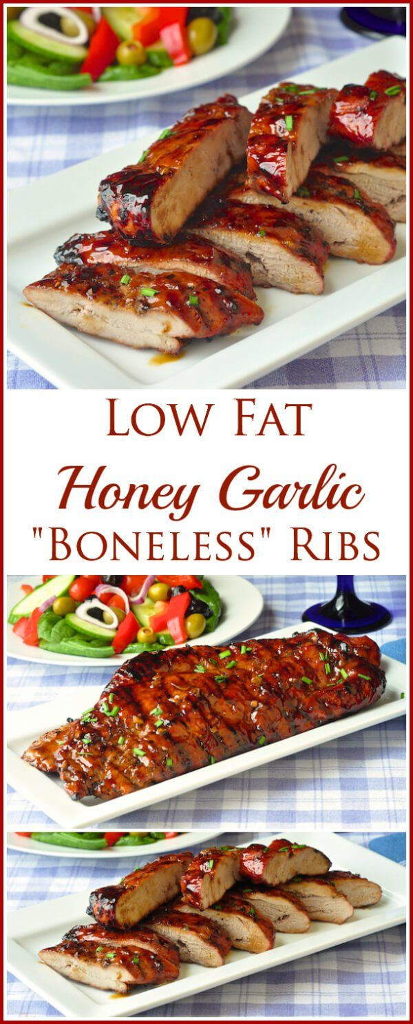 Low Calorie Pork Recipes  Check out Low Fat Honey Garlic Boneless Ribs It s so easy
