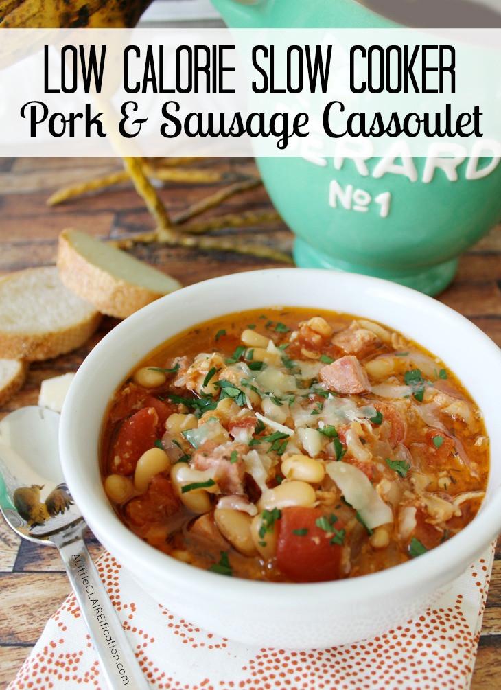 Low Calorie Pork Recipes  Low Calorie Slow Cooker Pork and Sausage Cassoulet The