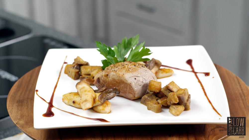 Low Calorie Pork Recipes  Pork Tenderloin With Italian Eggplant Recipe Low Fat Low