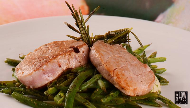Low Calorie Pork Tenderloin Recipes  Pork Tenderloin With Fried Rosemary Low Fat Low Carb