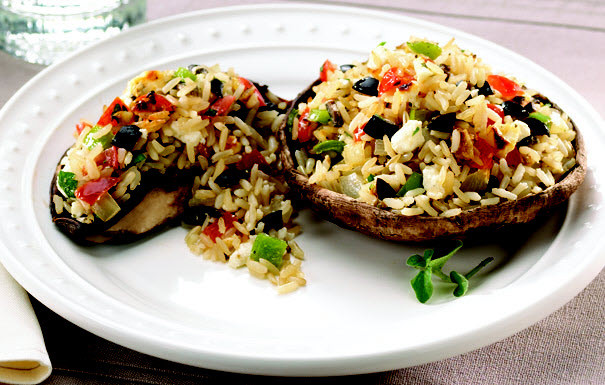Low Calorie Portobello Mushroom Recipes  Mediterranean Stuffed Portobello Mushrooms Recipe