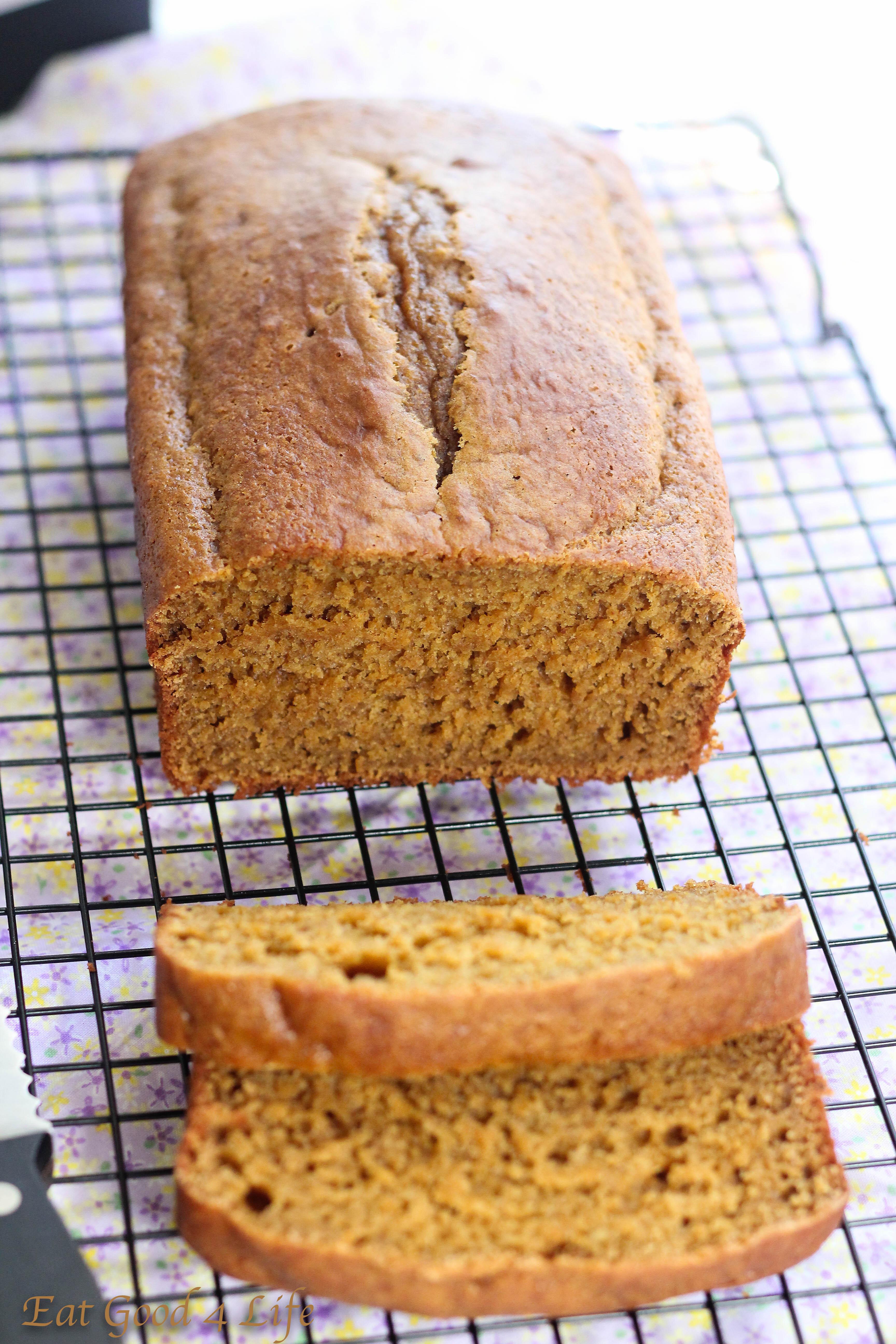 Low Calorie Pumpkin Bread  Low fat pumpkin bread