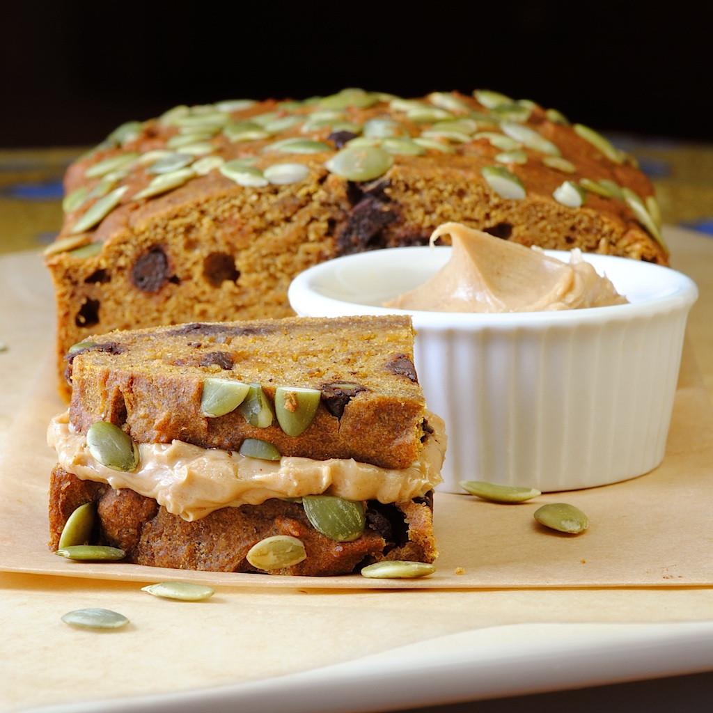 Low Calorie Pumpkin Bread  JULES FOOD Low Fat Pumpkin Bread w Chocolate Chips