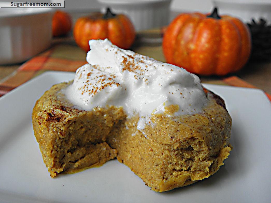 Low Calorie Pumpkin Dessert Recipes  Healthy Pumpkin Pie Custard Gluten Free & Low Carb